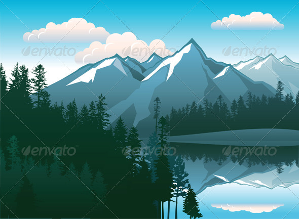 GraphicRiver Mountains Landscape 4987598