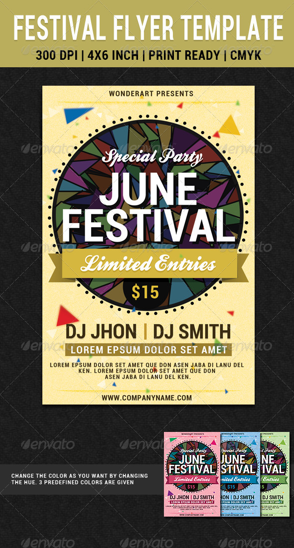 June Festival Party Flyer Poster Template | GraphicRiver