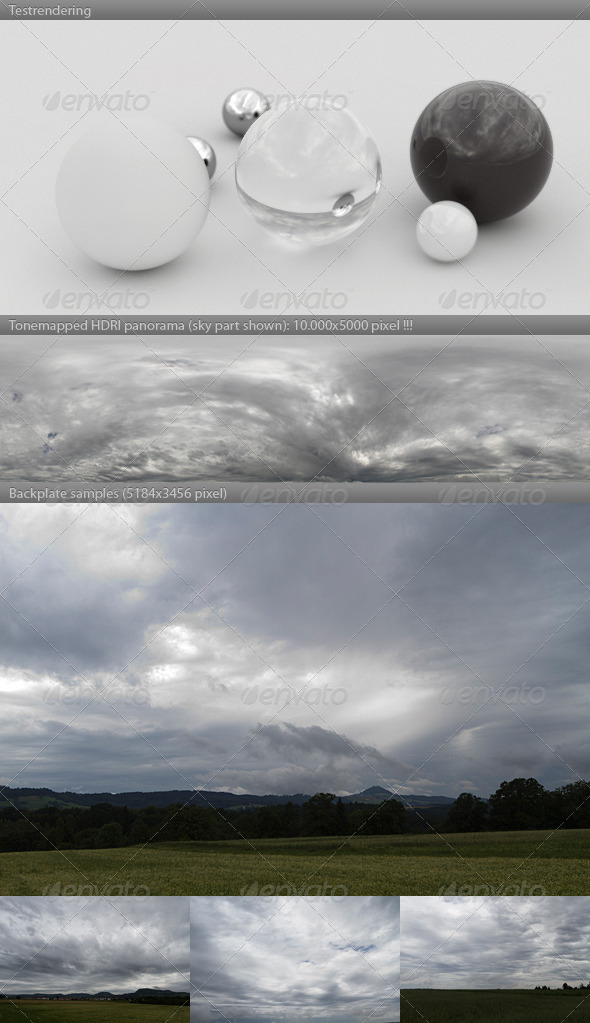 HDRI spherical sky panorama -1451- stormy clouds - 3DOcean Item for Sale