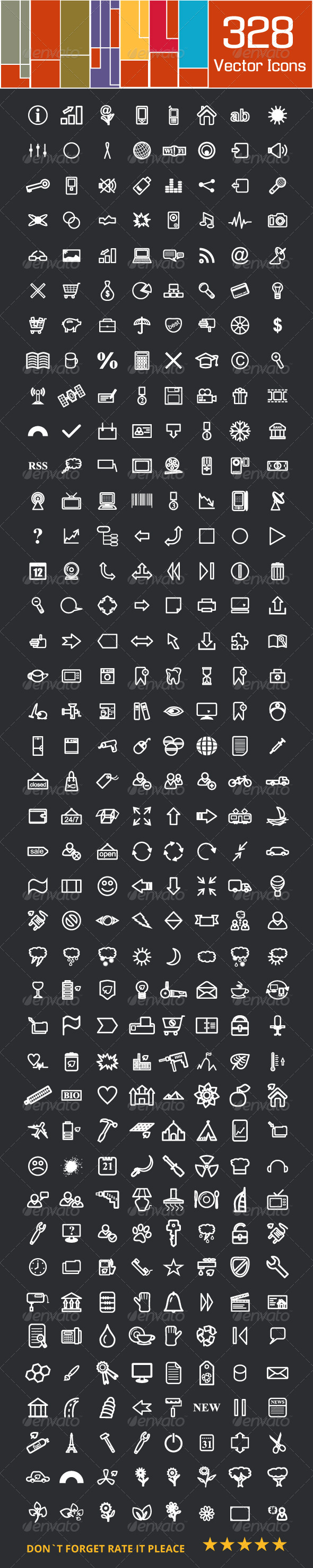 GraphicRiver Large Icons Set 4989056