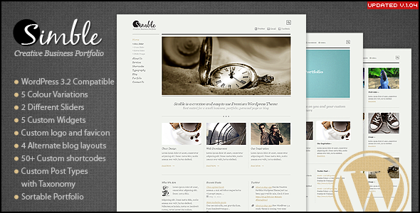 Simble Creative Business Portfolio Wordpress Theme