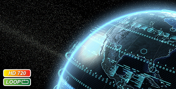 VideoHive Digital Earth Globe 514714