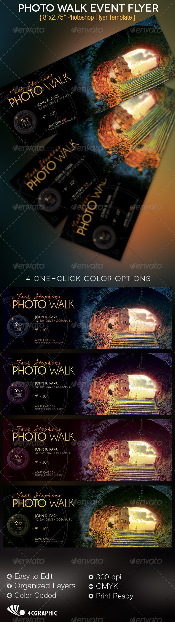 GraphicRiver Photo Walk Event Flyer Template 4912743