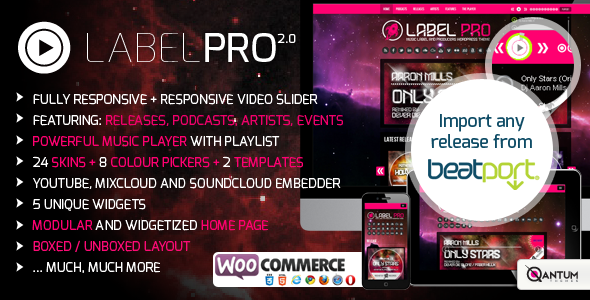 Music Label Pro: Responsive Music Wordpress Theme