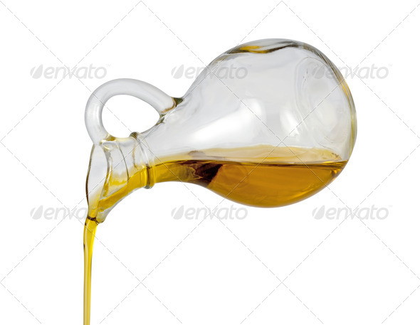 Olive Oil Pour with a clipping path - Stock Photo - Images