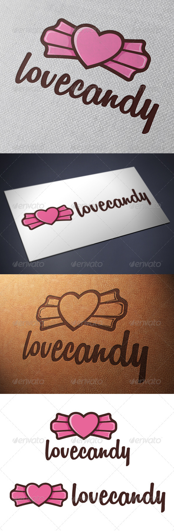 GraphicRiver Candy Love Logo Template 4991915