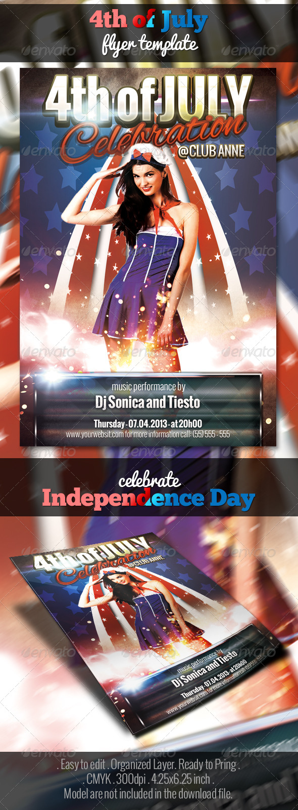 GraphicRiver 4th of July Flyer Template 4930321