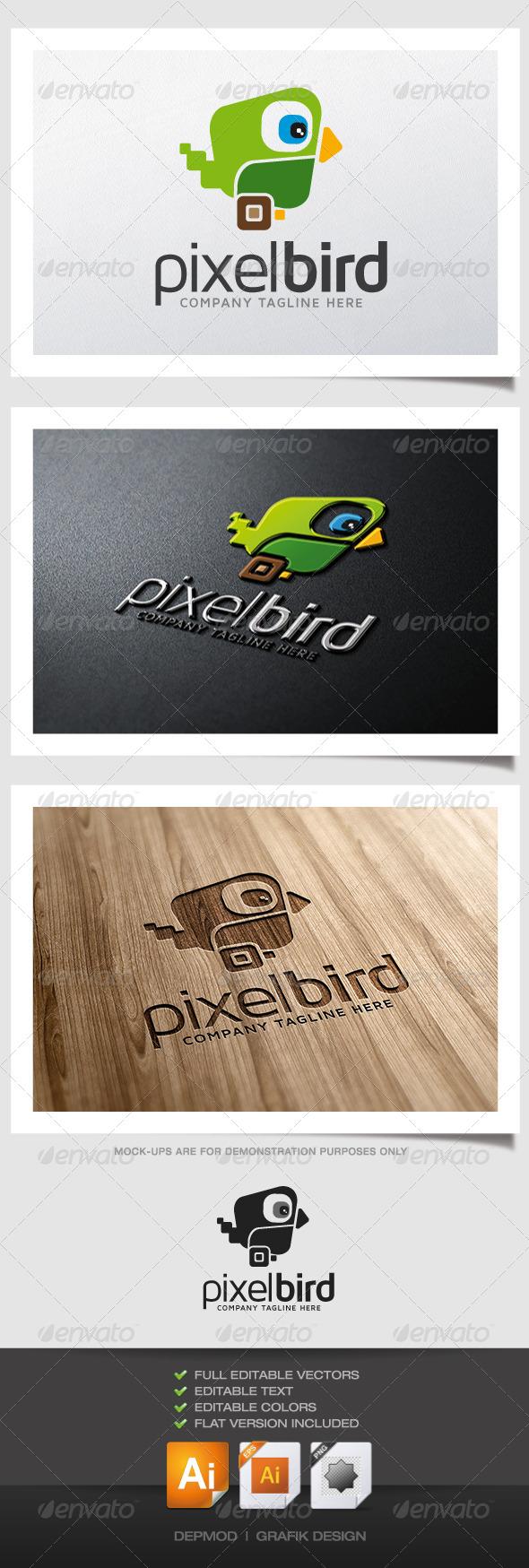 GraphicRiver Pixel Bird Logo V.02 4992469
