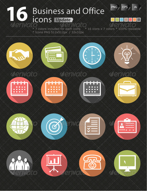 GraphicRiver Business and office icon update 4992754