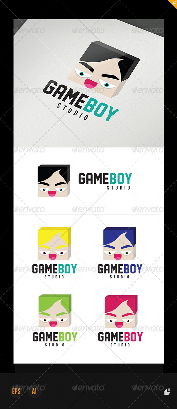 GraphicRiver Game Boy Studio Logo 4993406