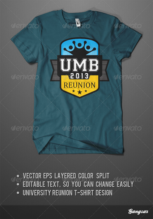 GraphicRiver University Reunion T-Shirt Design Template 4994004