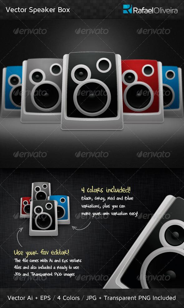 GraphicRiver Vector Speaker Box 178540