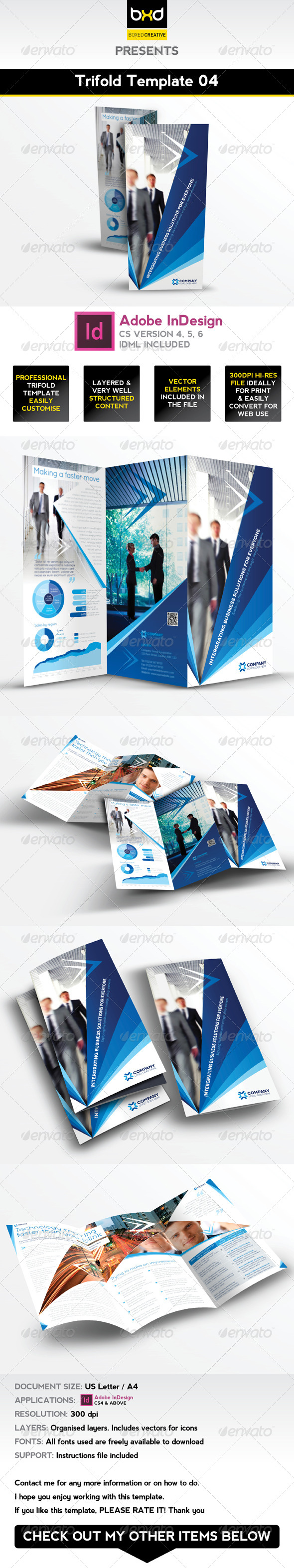 GraphicRiver Trifold Brochure Template 04 InDesign Layout 4994564