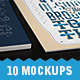10 Realistic Flyer/Poster/Artwork Mockups Pack - GraphicRiver Item for Sale