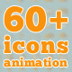 60 plus icons animation - VideoHive Item for Sale