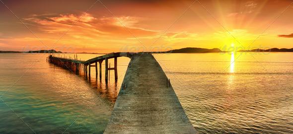 PhotoDune Sunset panorama 524338