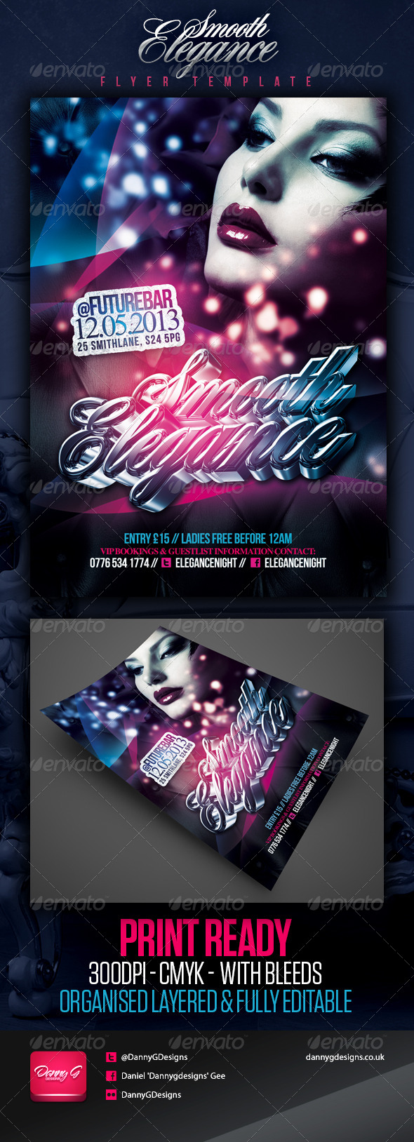 Smooth Elegance Flyer Template - Clubs & Parties Events