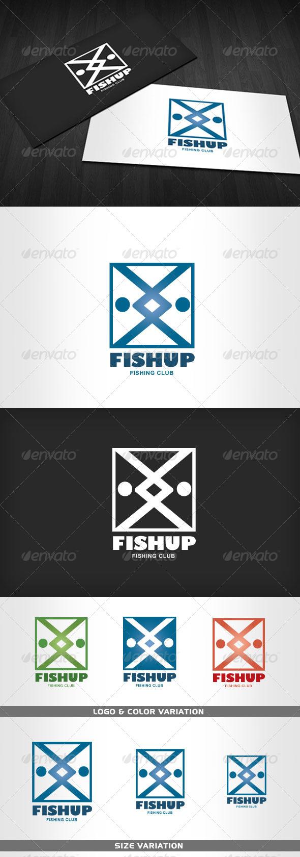 Graphic River FISHUP Fishing Club Logo Logo Templates -  Animals 515181