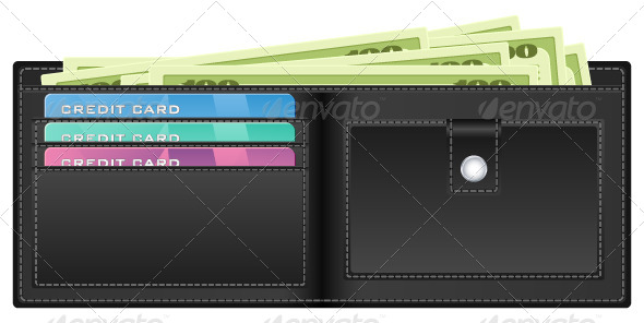 GraphicRiver Black Wallet with Money 4996464