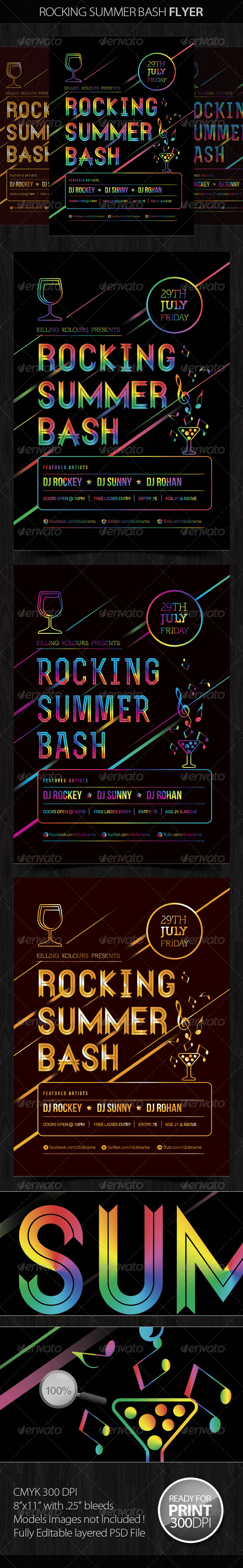 Rocking Summer Bash - Clubs & Parties Events