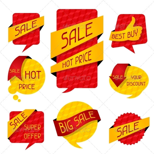 GraphicRiver Sale Speech Bubbles and Banners 4996736