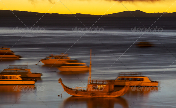 Titicaca at night - Stock Photo - Images
