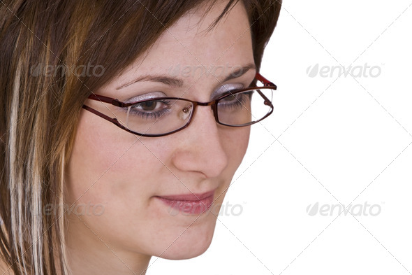 Woman with Glasses - Stock Photo - Images