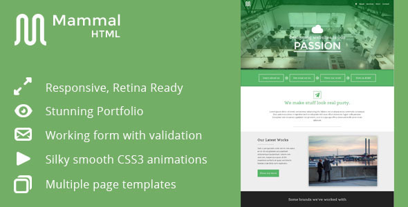 ThemeForest Mammal Creative Agency Template 4995290