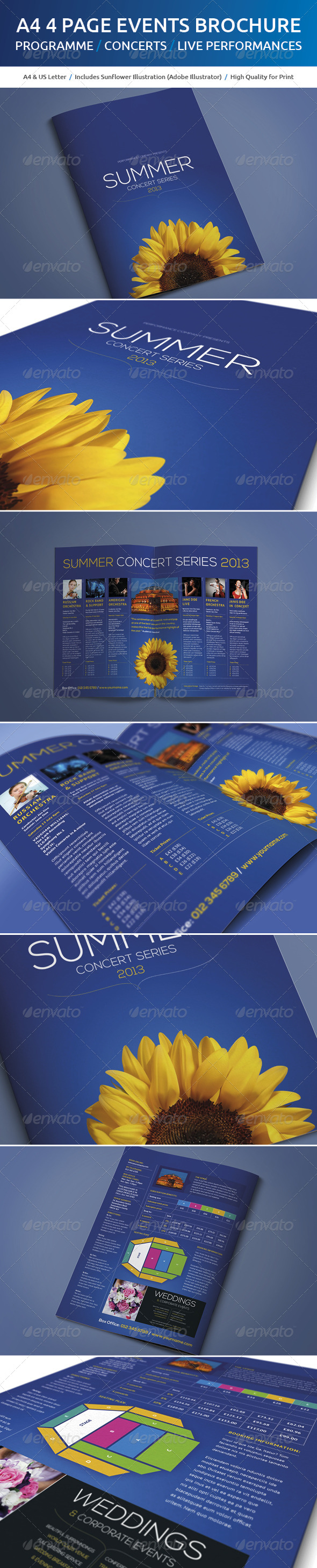 GraphicRiver A4 Events Brochure 4997805