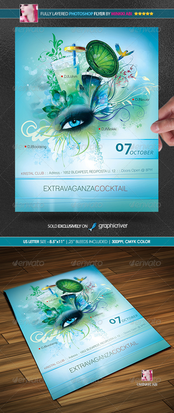 Extravaganza Poster/Flyer - Clubs & Parties Events