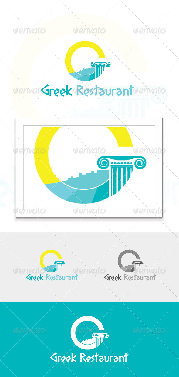 GraphicRiver Greek Restaurant Logo 4999804