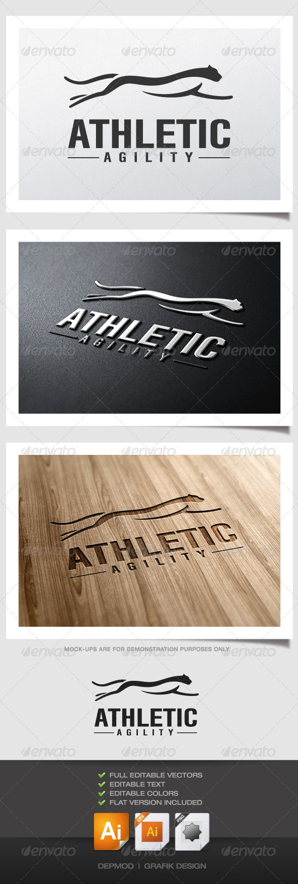 Athletic Agility Logo - Animals Logo Templates