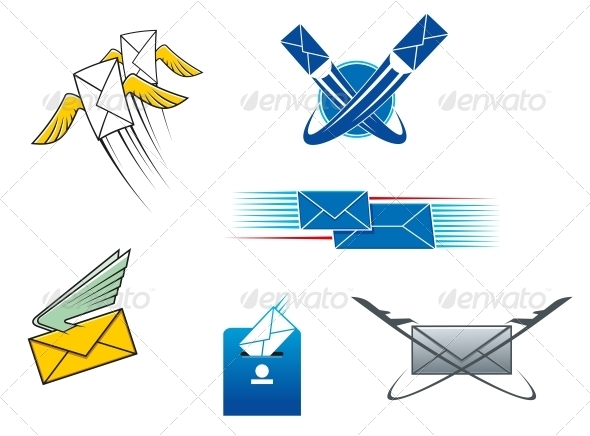 Post Mail and Letters Symbols - Miscellaneous Conceptual