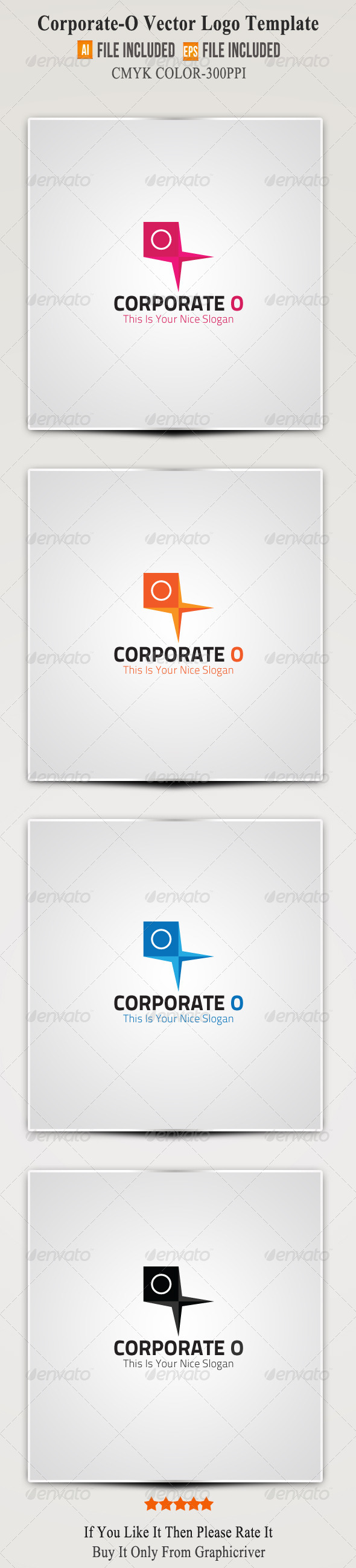 Corporate O Logo Template - Letters Logo Templates