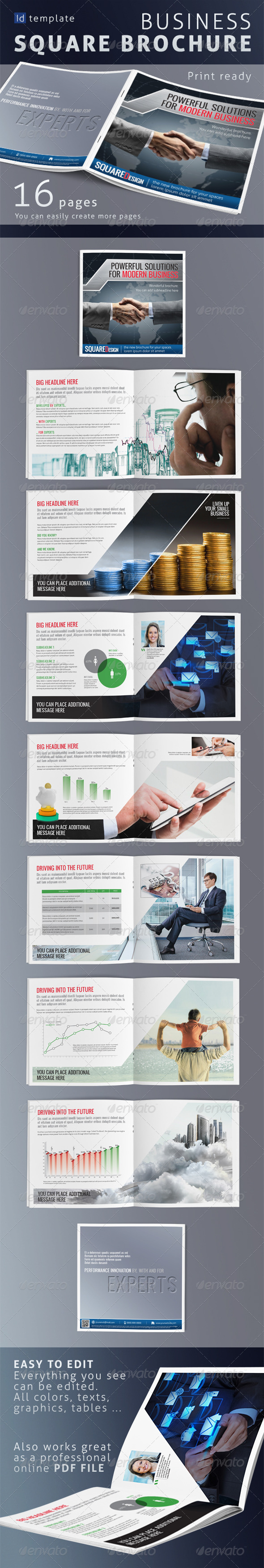 GraphicRiver Business Square Brochure 5003172