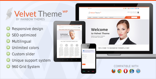 Velvet: Clean, Responsive WordPress Theme - Business Corporate