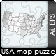 USA Map Puzzle - GraphicRiver Item for Sale