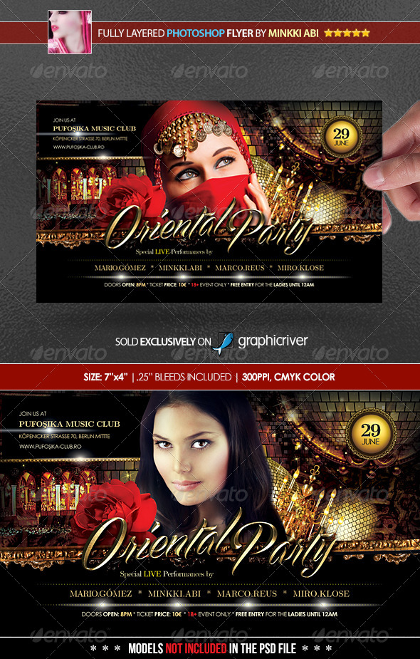 Oriental Party Poster/Flyer - Flyers Print Templates