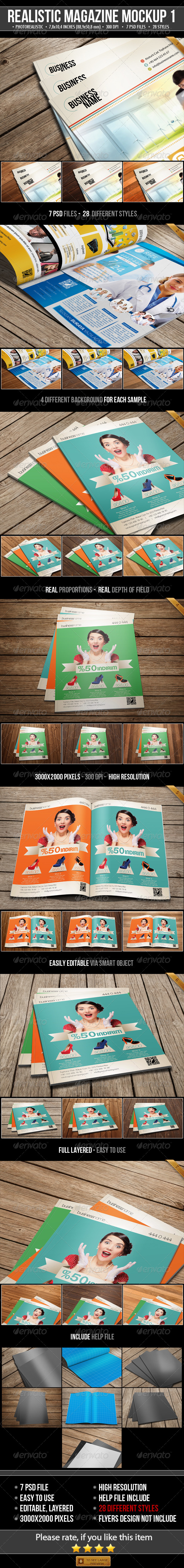 GraphicRiver Realistic Magazine Mock-Ups 5003945