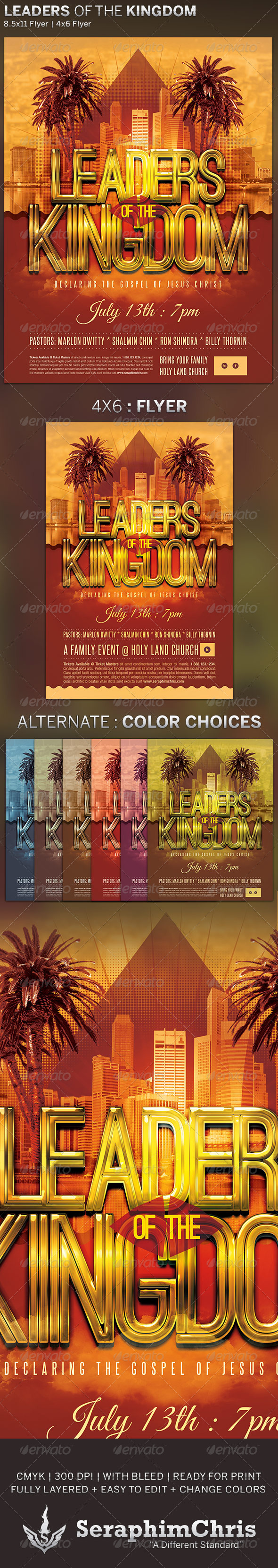 GraphicRiver Leaders of the Kingdom Church Flyer Template 5004185