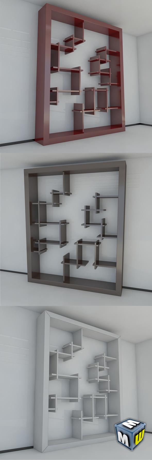 3DOcean Bookshelf 7 MAX 2011 5004188