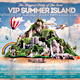 VIP Summer Island Beach Flyer Template - GraphicRiver Item for Sale