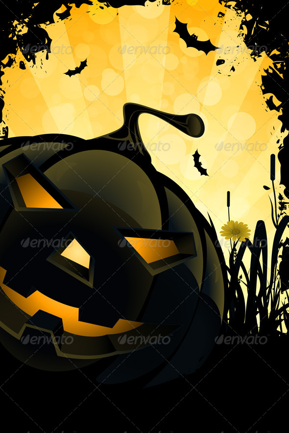 GraphicRiver Grunge Halloween Party Background 5006015