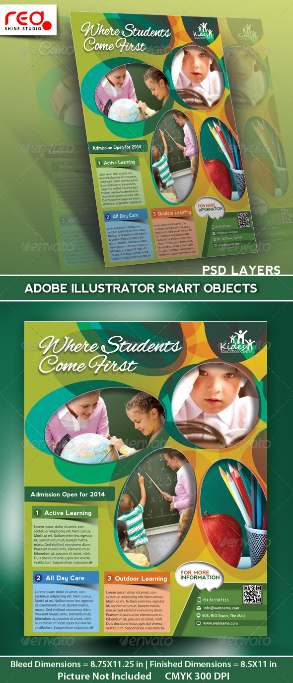 GraphicRiver Junior School Promotion Flyer Poster Template 5006017