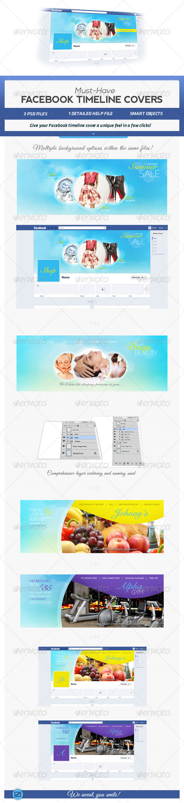 GraphicRiver Must Have Facebook Timeline Covers 5006056