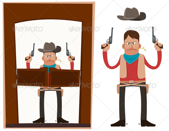GraphicRiver Cowboy in Action 5006085