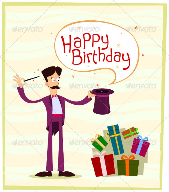 GraphicRiver Magician Birthday Greeting 5006310