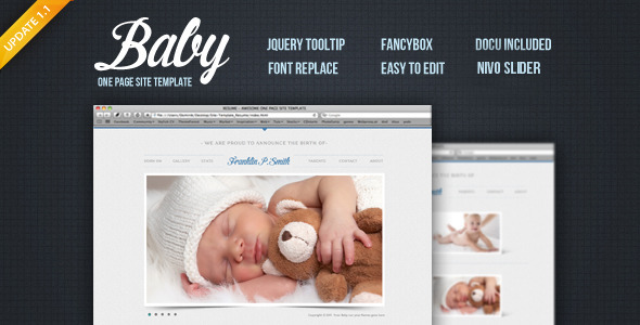 ThemeForest Baby Site Template 494125