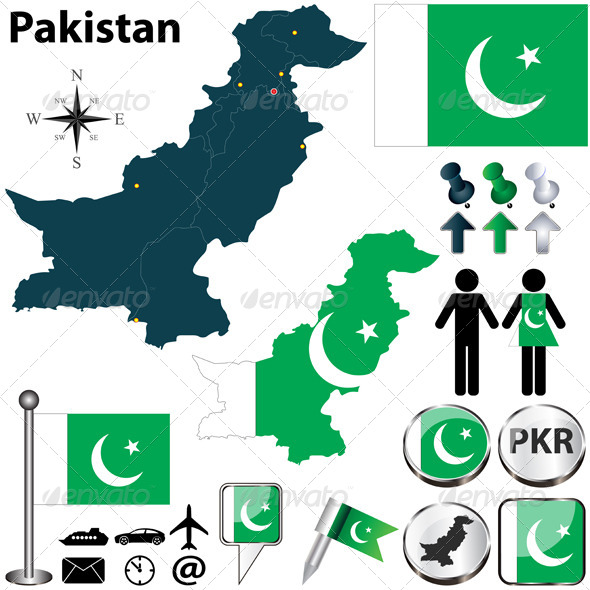 GraphicRiver Map of Pakistan 5008637