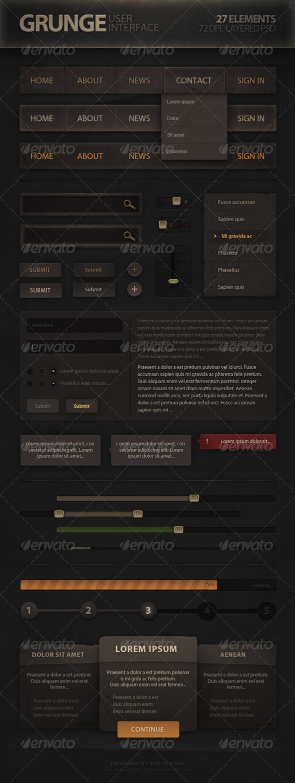 GraphicRiver Grunge User Interface 4987839